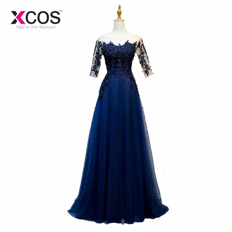 Buy mother wedding dress navy and get free shipping on AliExpress.com f5cae274538b