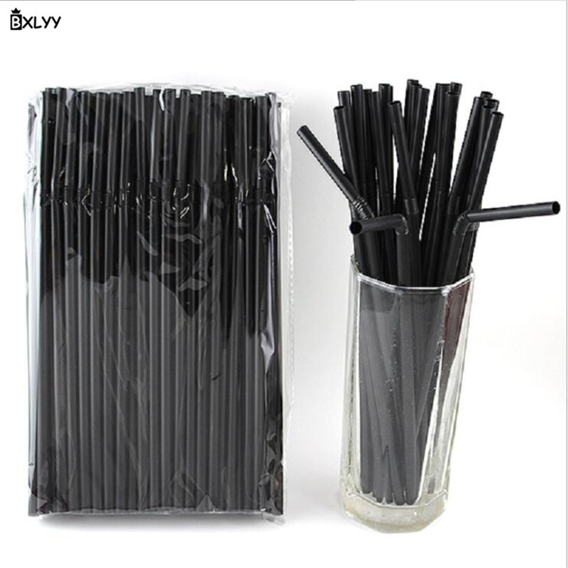 BXLYY New 50pc Black and White Two-color Straw Coffee Juice Drink Cocktail Straw Bar Tools Children Birthday Party Supplies.7z