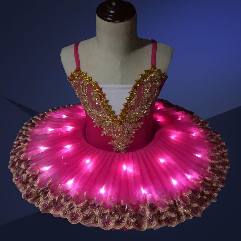 Lumière LED professionnel Tutu enfants Ballet Costume ballerine robe enfants Halloween scène enfants fête robe Costume tenue