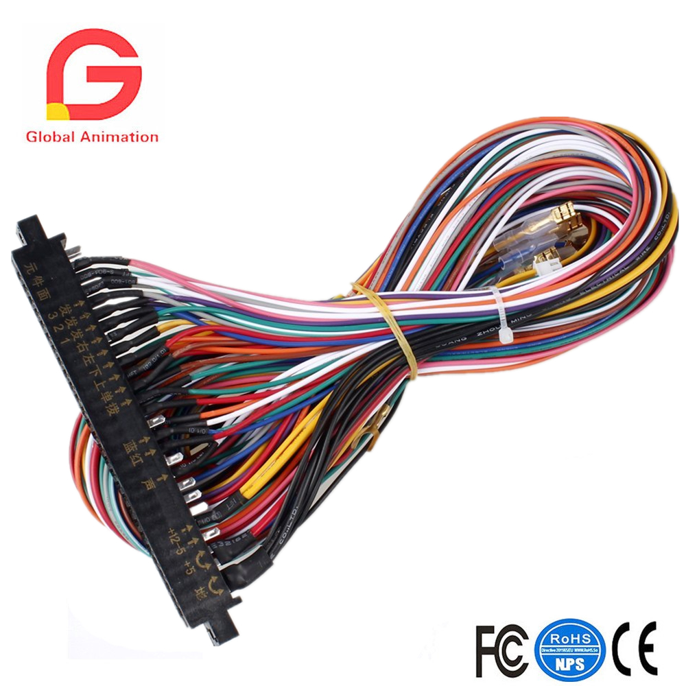 Pci Wiring Harness Library Cable Wire Standards Jamma Board Standard Cabinet Loom For Multigame Boards In Coin Operated Games