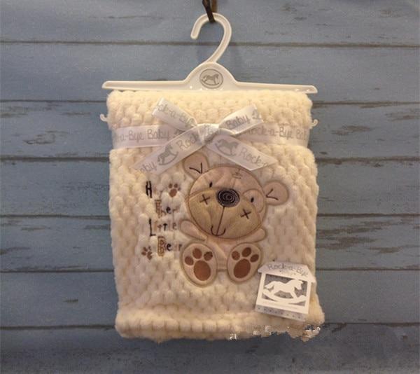 Мультфильм Животных собака Флис Новорожденный Одеяло Мягкой Подстилкой Infant детский Дом Спящая