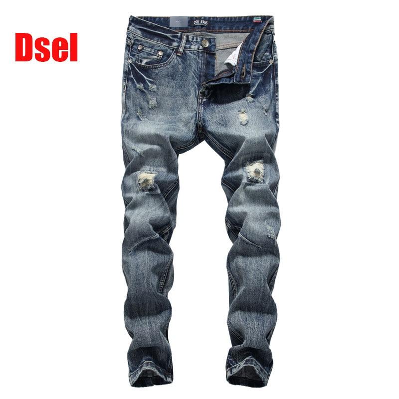 2017 جديد حار بيع أزياء الرجال الجينز dsel ماركة مستقيم صالح ممزق جينز مصمم الإيطالي المتعثرة الدينيم جينز أوم! a604