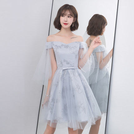 2018new stock plus size women pregnant wedding party   Bridesmaid     Dresses   sexy romantic A line grey knee length   dresses   abe180