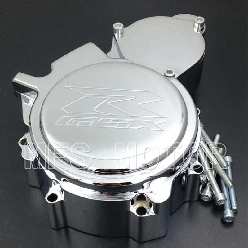 Motorcycle Part Left side Engine Stator cover For Suzuki GSX-R GSXR600 600 750 2006 2007 2008 2009 2010 2011 2012 2013 Chrome freeshipping motorcycle left side engine stator cover for suzuki gsx r gsxr600 600 750 2006 2013 chrome