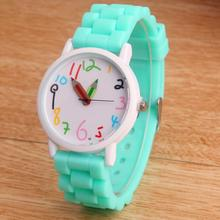 Fashion Pencil Cartoon watch Women Silicone Watches 2016 New Casual quartz wristwatch For Children and adults relogio feminino