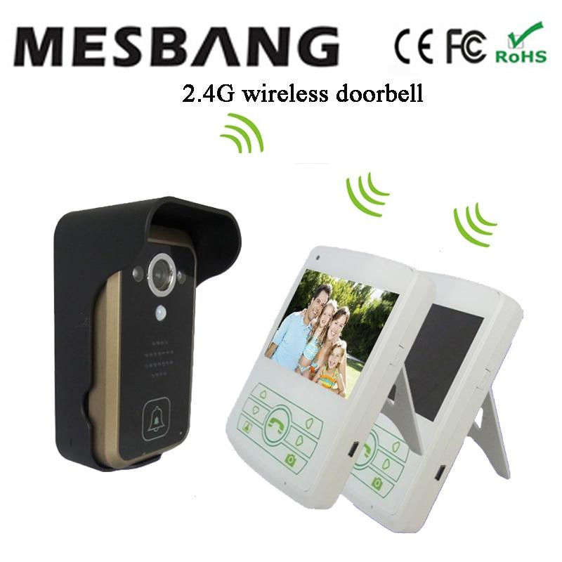 2017 Mesbnag villa 2.4ghz digital wireless intercom video door phone free shipping ...