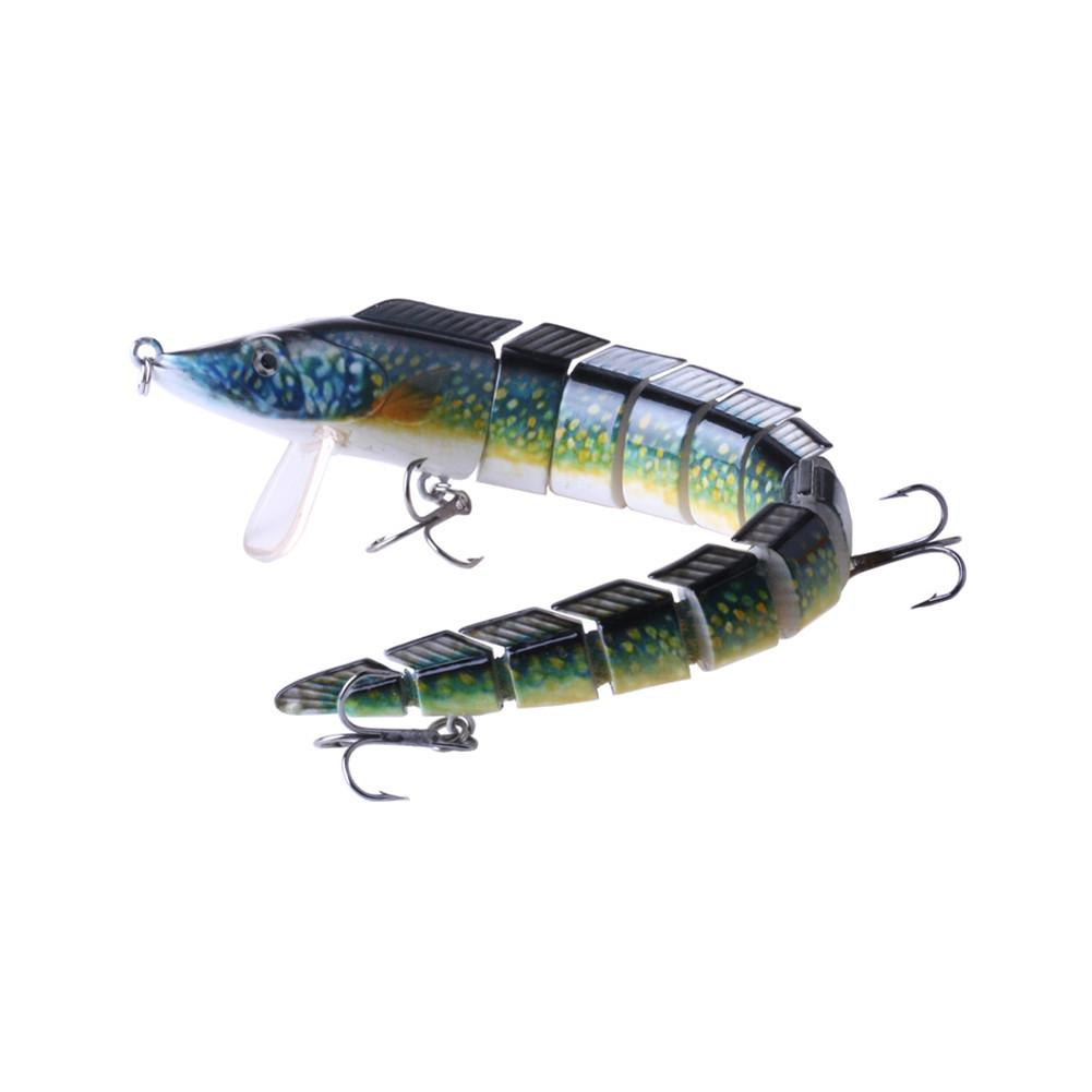 "9/"" Bass Striper Fishing Bait Swimbait Lure Life-like Eel Loach Multi-jointed"