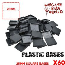 60x25mm Square Bases for Miniatures and wargame model bases(China)