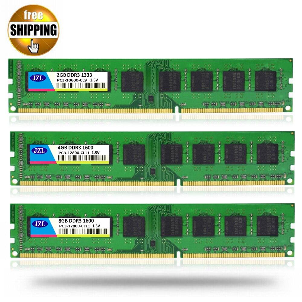 JZL LONG-DIMM PC3-12800 DDR3 1600MHz DDR 3 1333 MHz 4GB 8GB 1.5V 240PIN Desktop PC Computer DIMM Memory RAM Only For AMD CPU samsung server memory ddr3 8gb 16gb 1600mhz ecc reg ddr3 pc3 12800r register dimm ram 240pin 12800 8g 2rx4 x58 x79