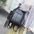 New fashionable design tassel women solid color backpack daily small leisure backpack vintage portable travel bag