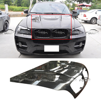 for H Style Car Styling Carbon Fiber Hood Bonnets For BMW E70 E71 X5 X6 2007 2012