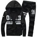New Brand Tracksuits Men Sportwears Suits Hoodies Hooded All Black Chandal  Hombre Homme Tracksuit For Men Plus Size