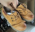 2016 nueva primavera niños zapatos de niños zapatos de las muchachas de la marca de cuero genuino negro zapatos planos de la manera del muchacho del niño sandalias zapatos lepoard