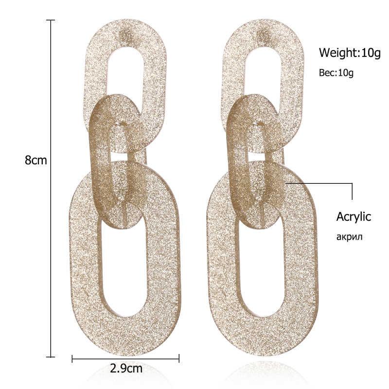 XIYANIKE брендовые геометрические Матовые акриловые Висячие серьги для женщин, винтажные Макси массивные серьги в стиле бохо, модное ювелирное изделие E1660