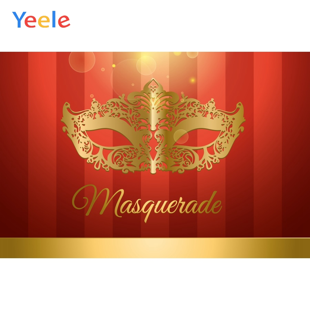Yeele Party Masquerade Carnival Gold Bokeh Lights Photography Backdrop Personalized Photographic Backgrounds For Photo Studio