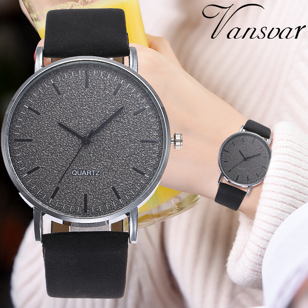 vansvar Womens Casual Quartz Leather Band Watch Analog Wrist Watchvansvar Womens Casual Quartz Leather Band Watch Analog Wrist Watch