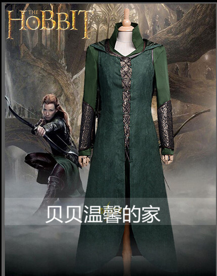 Free Shipping Customized Movie Cosplay Costume The Hobbit Desolation of Smaug Tauriel Cosplay Costume