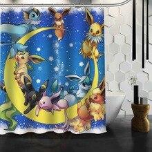Pokemon Bathroom Shower Curtain