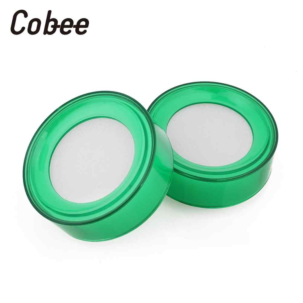 2PCS//Lot Plastic Round Case Finger Wet Sponge Damper for Casher Count Money# ^P
