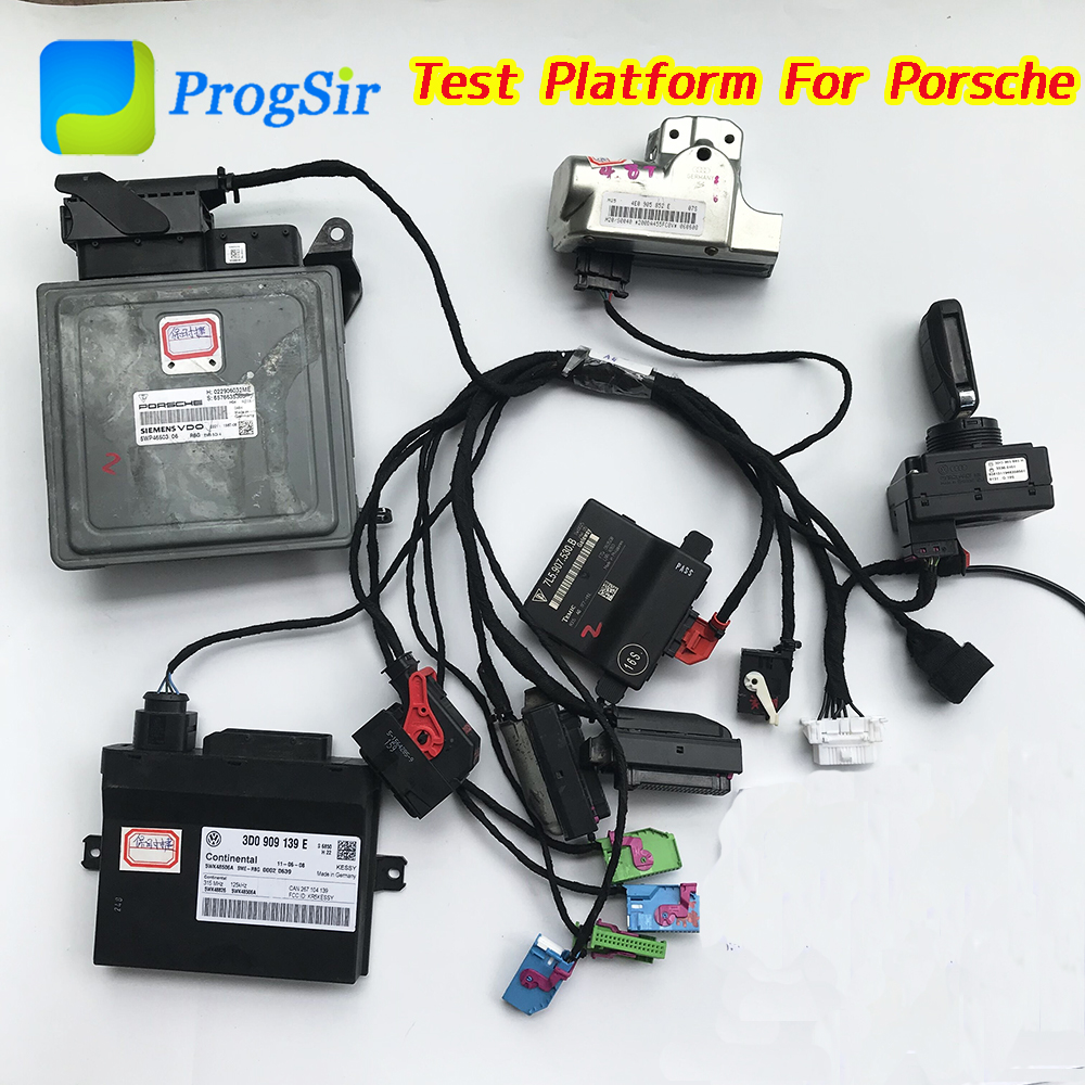 Test Platform Full Set For Porsche Come With IMMO Box, Engine Computer, Gateway, Kessy, Steering Lock, Test Cable