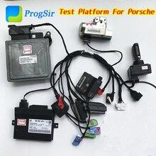 Тестовая платформа полный набор для Porsche поставляется с IMMO коробкой, двигателем компьютера, шлюзом, Kessy, рулевым замком, тестовым кабелем
