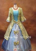 Medieval Renaissance Gown queen Dress stage dance Costume Victorian Gothic Lolita/Marie Antoinette/civil war/Colonial Belle Ball