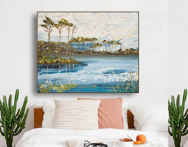 Watercolor Artistic Scenery Canvas Oil Painting Poster Prints Living Room House Wall Decor Art Painting Home Decoration Picture