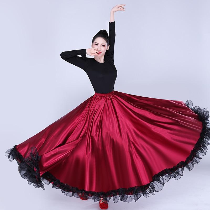 Adult women lady belly dance costumes Spanish bullfighting dance skirt opening dance big swing skirt performance Gypsy wear