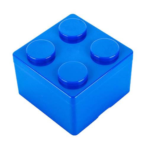 Best 1pc Building Block Shapes Saving Space Storage Box Superimposed Desktop Handy Office House Keeping Stationery (blue)S