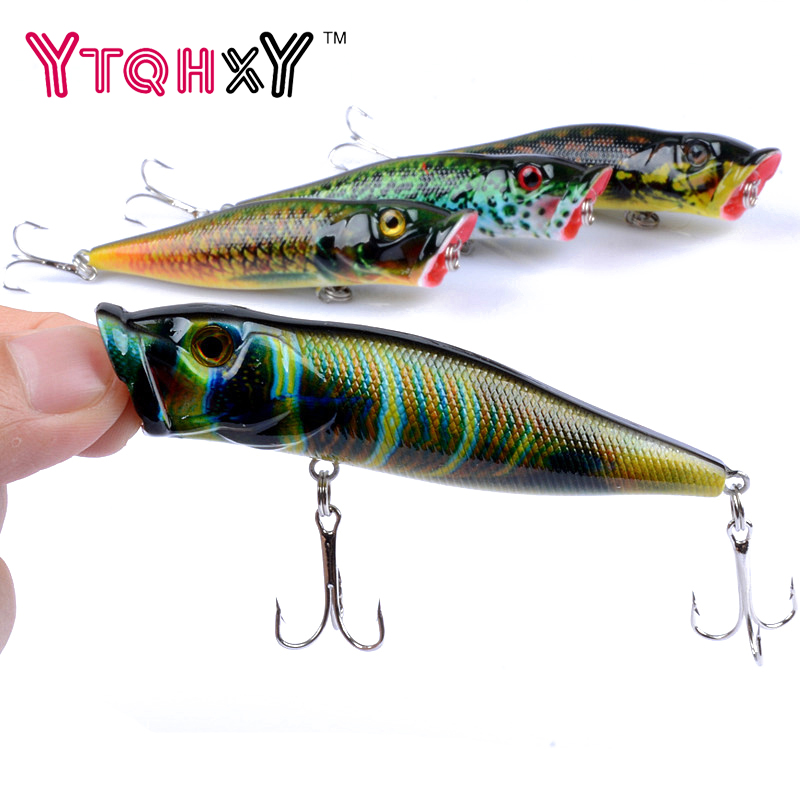 1pcs 9.5cm 12g Popper Fishing Lures 3D Eyes Bait Crankbait Wobblers Isca Poper Pesca Japan fishing tackle YE-356 fishing lures big hard lure popper wobblers fishing tackle 3d eyes abs bait crankbait isca with hooks 10 colors 1pcs