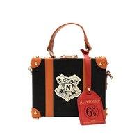 Harry Potter Handbag Hogwarts Castle Crest Envelope Satchel Purse Women Brown Box Handbag PU Leather Shoulder