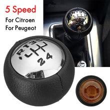 Perilla de cambio de velocidad de 6 velocidades 5 velocidades para Peugeot 307 308 3008 407 807 para Citroën C3 (A51) C4 C4 Picasso