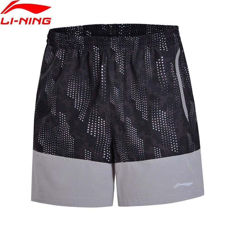 Li-Ning Men Running Shorts AT Dry Regular Fit 91.1% Polyester 8.9% Spandex Comfort LiNing Sports Shorts AKSN007 MKD1521 outdoor sports fitness polyester spandex tight shorts for men black xl