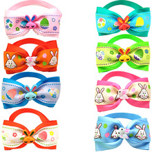 50 Pcs Dog Bow Tie Easter Rabbit Style Ribbon Bow Tie For Puppy Dog Cat Soft Neckties Collar Adjustable Tie Grooming Accessories