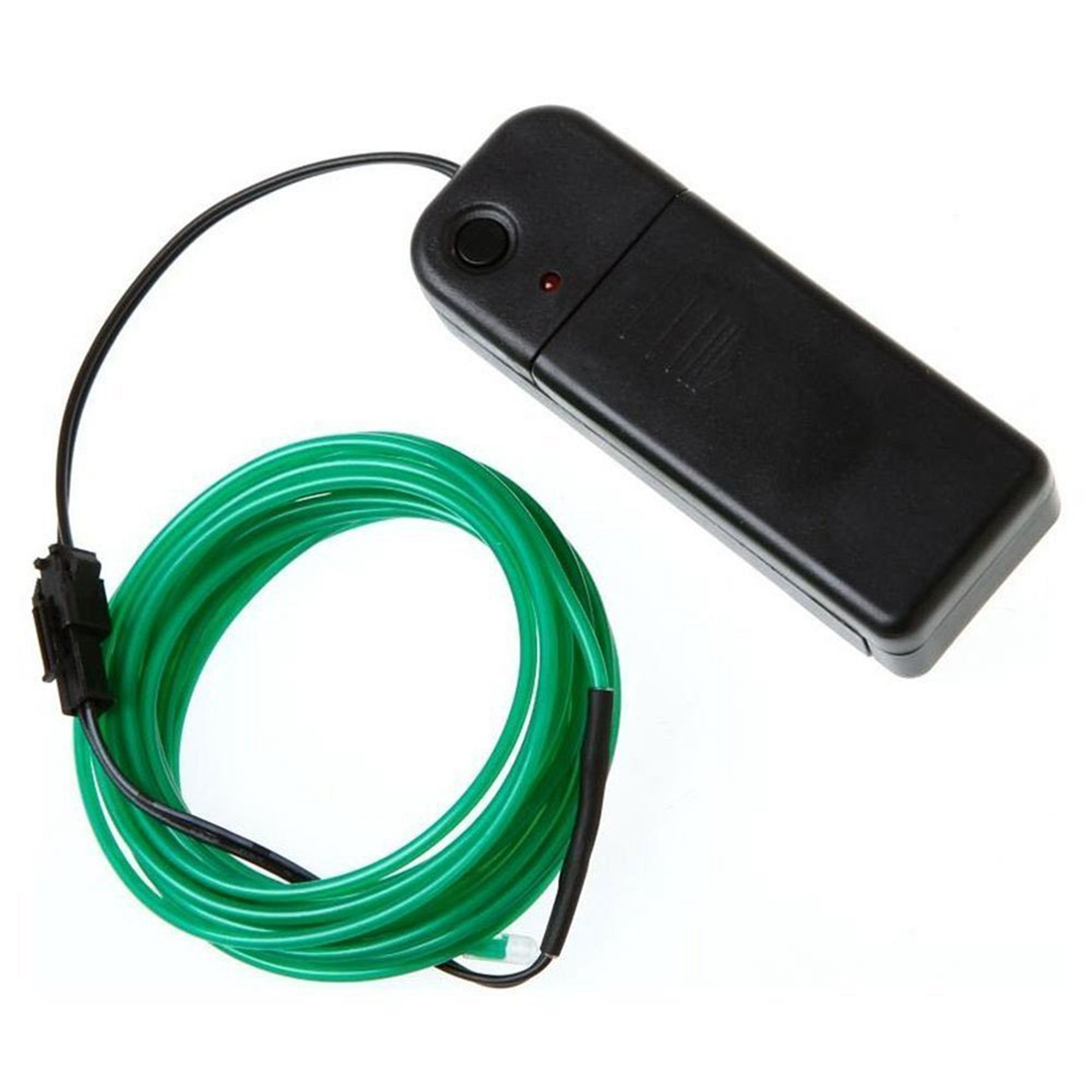 MAHA Neon Glowing Electroluminescent Wire (El Wire) with Battery Pack Controller (Green,3M)