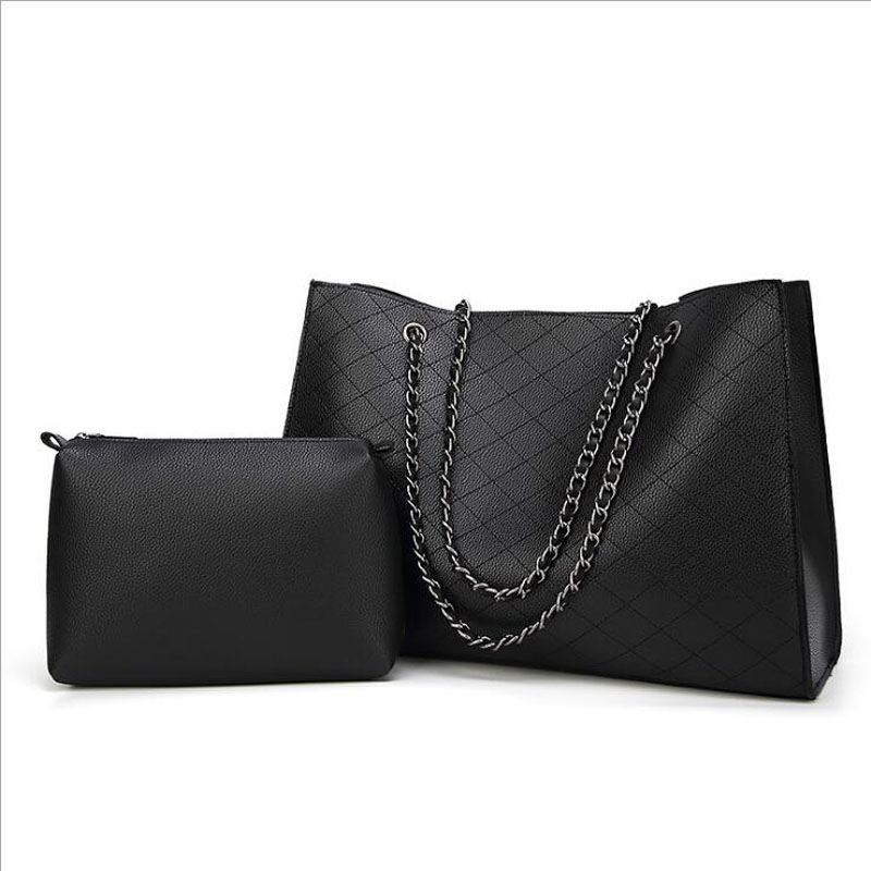 PU leather women handbag vintage tote bag panelled stone women shoulder bag messenger bag