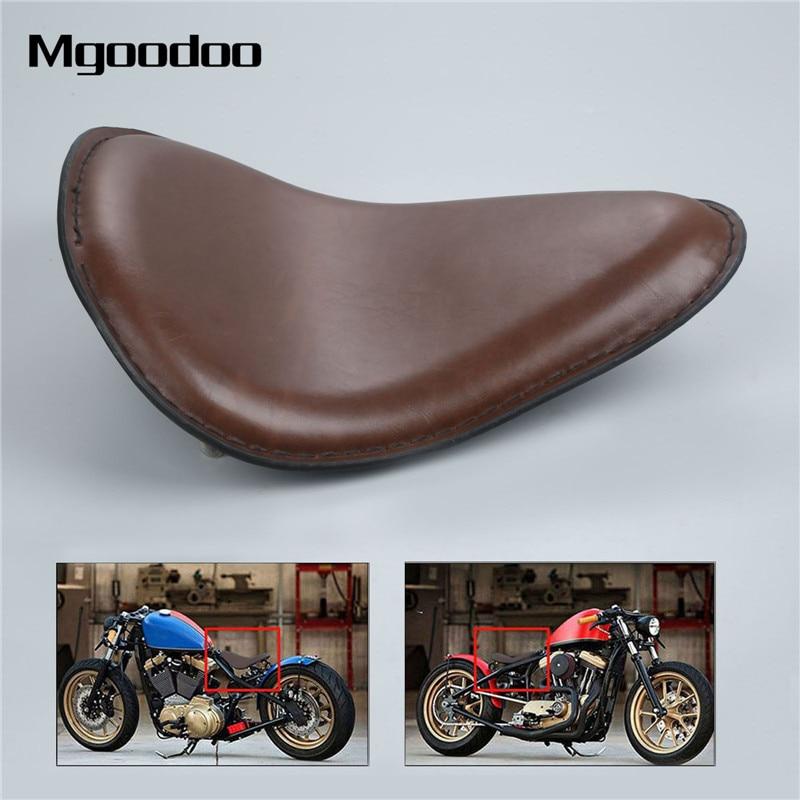 Mgoodoo Motorcycle Driver Rider Solo Seat With Mounting Bracket  Fit For Honda Yamaha Kawasaki Suzuki Sportster Bobber Chopper