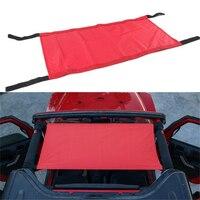 Red Car Heavy Duty Network Cargo Roof Net Car Hammock Storage For Jeep Wrangler JK 07 18 Auto Roof Net Accessories