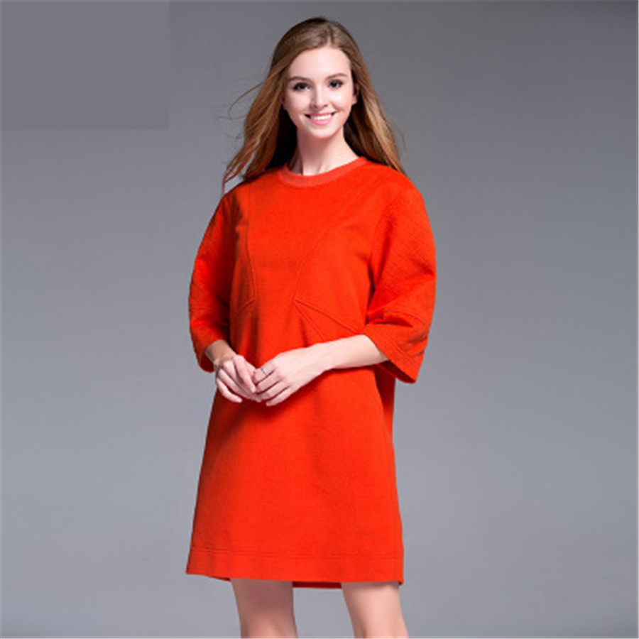 Women Maternity Dress Clothes Plus Size Vestido For Pregnant Loose High Quality Solid Big Size Woolen Dress 2017 Fashion 70R0146