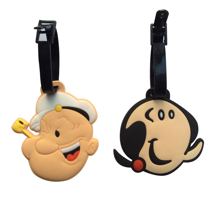 Suitcase Protective Covers Suitcase Travel Accessories Cartoon Luggage Tag Popeye Bobby Oliver Olive Pendant Tags Place Adorn image