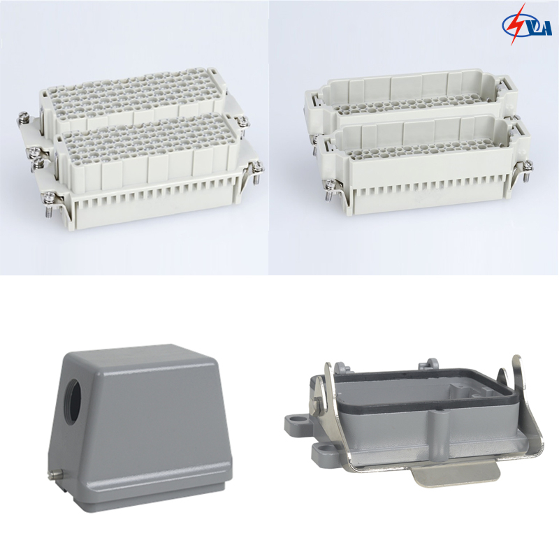 HDD-216 10A 216 pins jack and plug heavy duty connector industrial multipole abb industrial connector four pole mobile industrial plug 63a 363p6