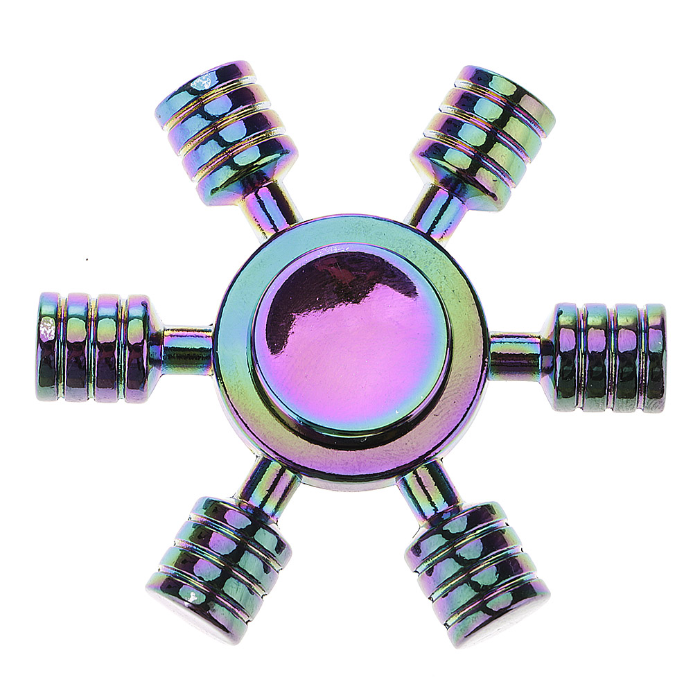 Colorful Rudder Metal ADHD Anxiety Autism Stress Reducer Fidget Hand Spinner Toy