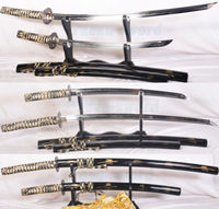 Набор из закаленного сложенного японского меча самурая Катана (Katana + Wakizashi)