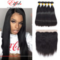 Stema Hair Products With Lace Frontal Malaysian Straight Hair With Closure 4 Bundles Malaysian Virgin Hair With Frontal Closure