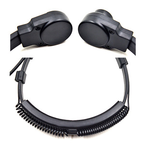 Image 2 - XQF Extendable Throat Microphone Headset Earpiece PTT For Motorola APX2000 APX6000 APX7000 DGP4150 Portable Radio Transceiver