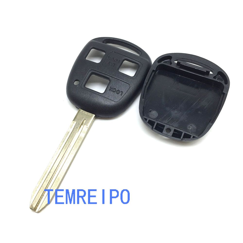 20 шт./лот для Toyota Camry 3 кнопки дистанционного Оболочки ключи от машины пустой корпус с Toy43 лезвие