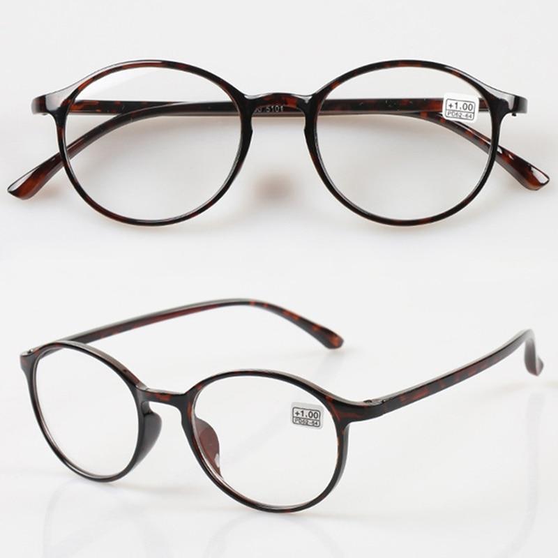 Chashma Marca de Moda Retro Óculos TR90 Material Rodada Armações de Óculos  De Leitura ef9b9c0aa4