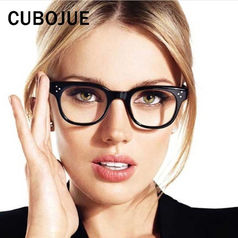 Cubojue Transparent Glasses Men Women Small Face Optical Eyeglass Frames  Eyewear for Prescription Female Vintage Square Quality-in Eyewear Frames  from ... 95c51a95e