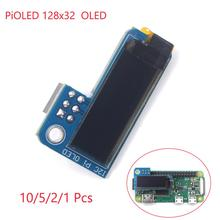 PiOLED 0.91 inch IIC I2C 128x32 OLED Monochrome Screen Add-on for Raspberry Pi 3 Zero SSD1306 Blue DC 3.3V  1/2/5/10Pcs usb zu i2c iic master converter for adc decoder program 24xx eeprom tv set