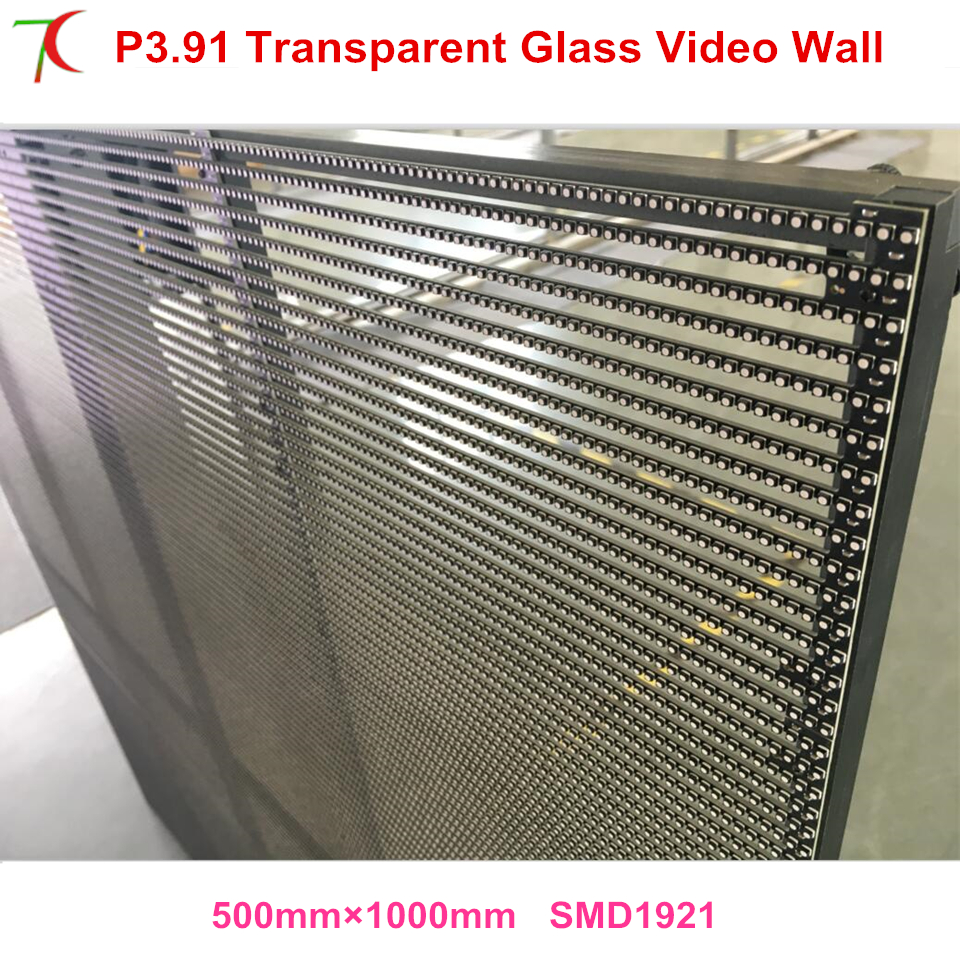 DIY P3.91 Constant Current Driving transparent curtain Synchonous Control wall led display